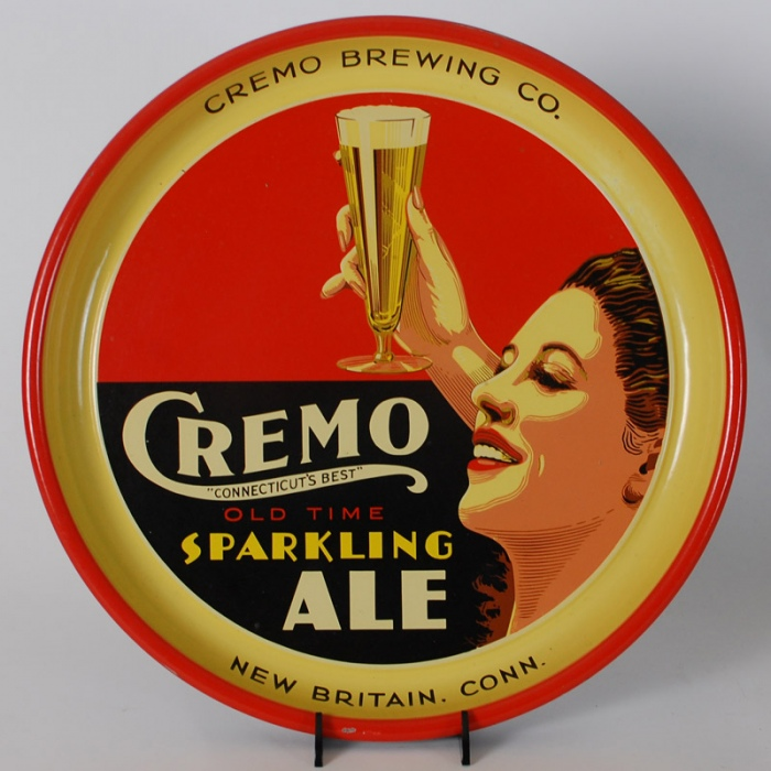 Cremo Sparkling Ale Flapper Woman Tray Beer