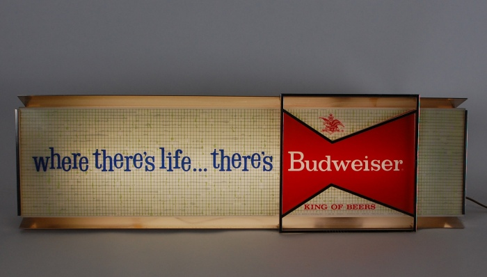 Budweiser Where Theres Life Lit Sign Beer