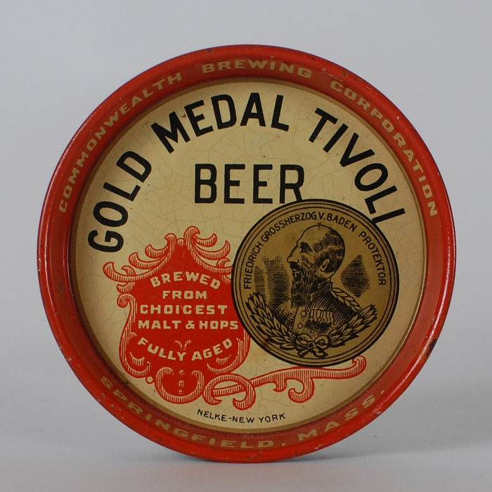Commonwealth Gold Medal Tivoli Tip Tray Beer
