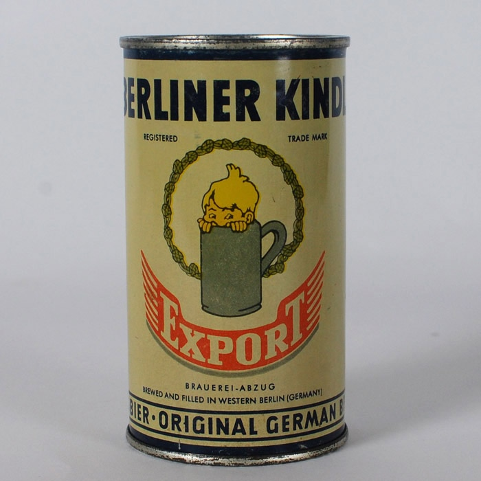 Berliner Kindl Export Flat Top Can Beer