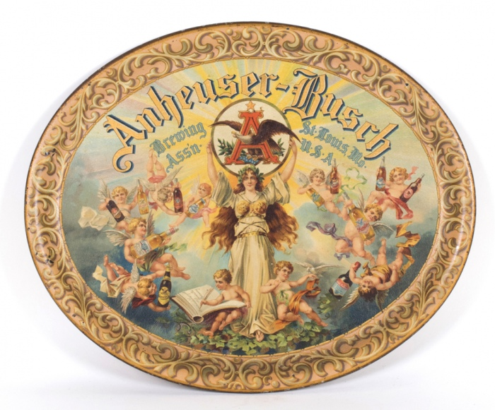 Anheuser-Busch Pre-prohibition Cherubs Tray Beer