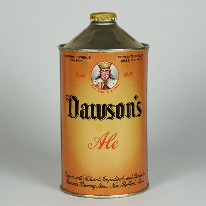 Dawsons Ale Quart Cone Can 206-13 Beer