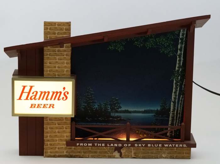 Hamms Beer Motion Starry Skies Lighted Sign Beer