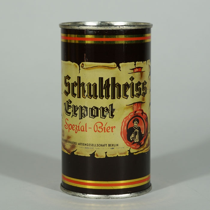 Schultheiss Export Beer Can Beer