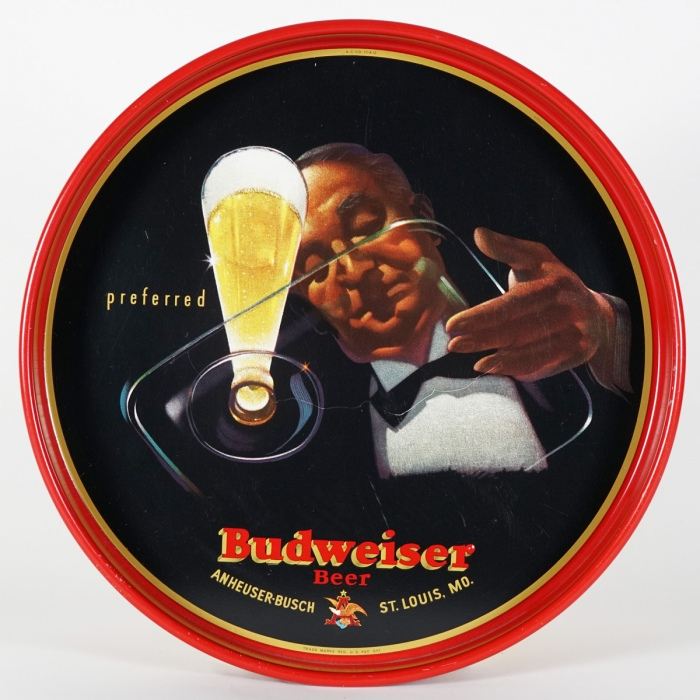 Budweiser Waiter Beer Glass Tray Beer