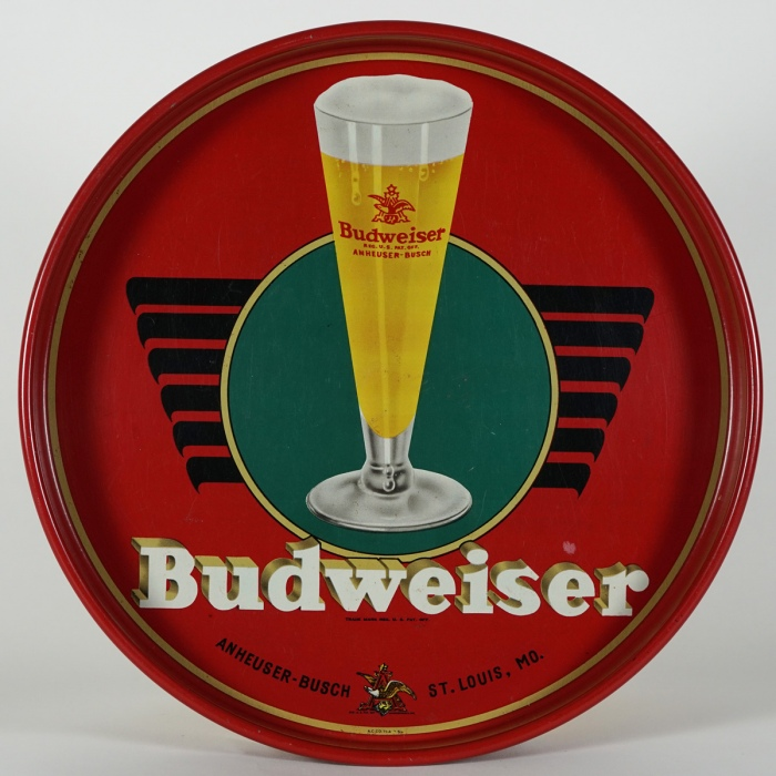 Budweiser Tall Glass Beer Tray Beer