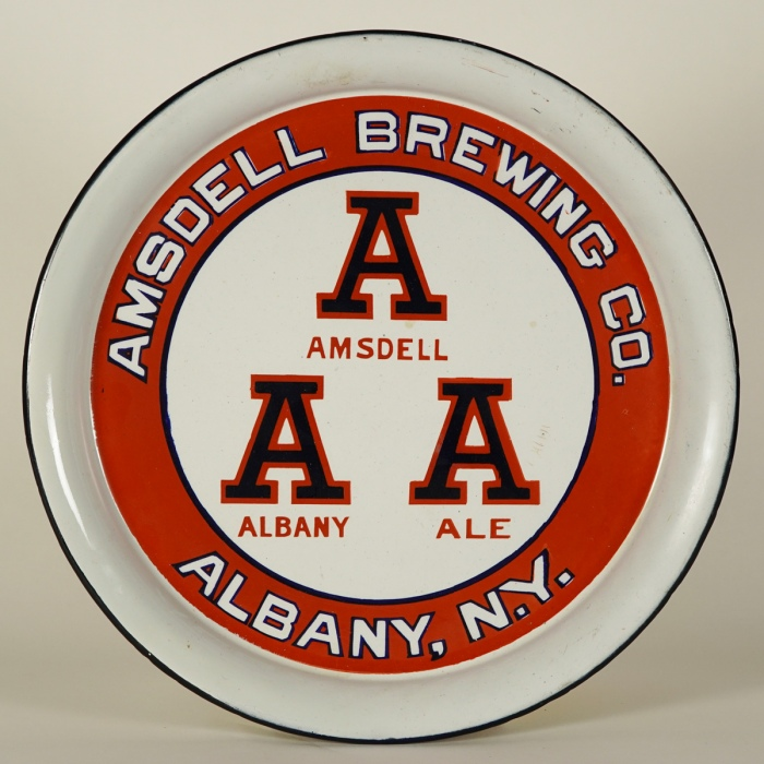 Amsdell Albany Ale Porcelain Tray Beer