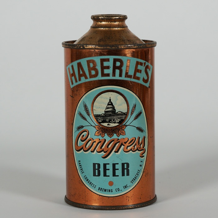 Haberle Congress Beer LOW PROFILE Cone Top NL Beer
