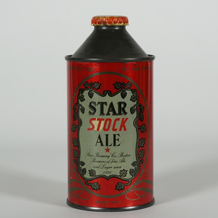 Star Stock Ale Cone Can ACTUAL 186-7 Beer