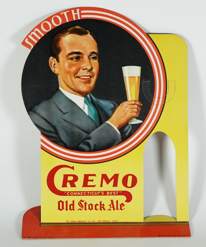 Cremo Old Stock Ale Diecut Sign Beer