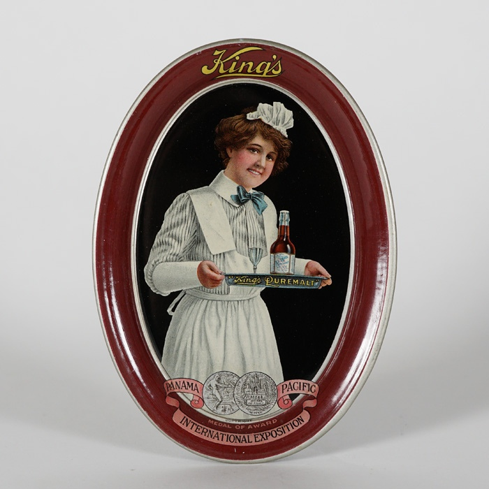King's Puremalt Nurse Maid Tip Tray Beer