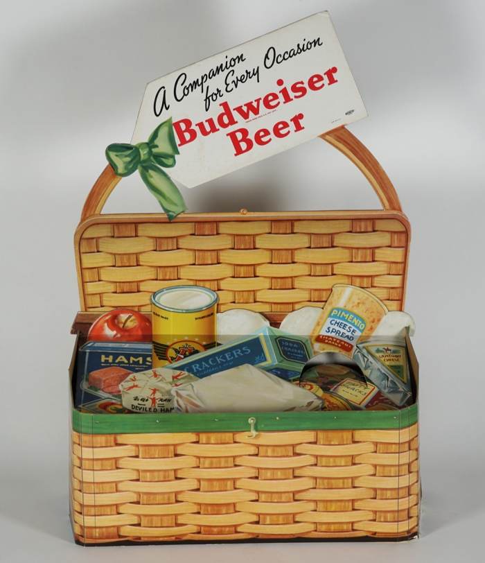 Budweiser Picnic Basket Cans Display Beer