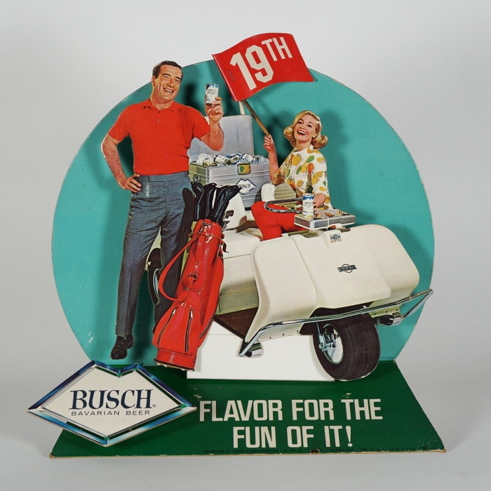 Busch Golf Diecut 3D Sign Beer
