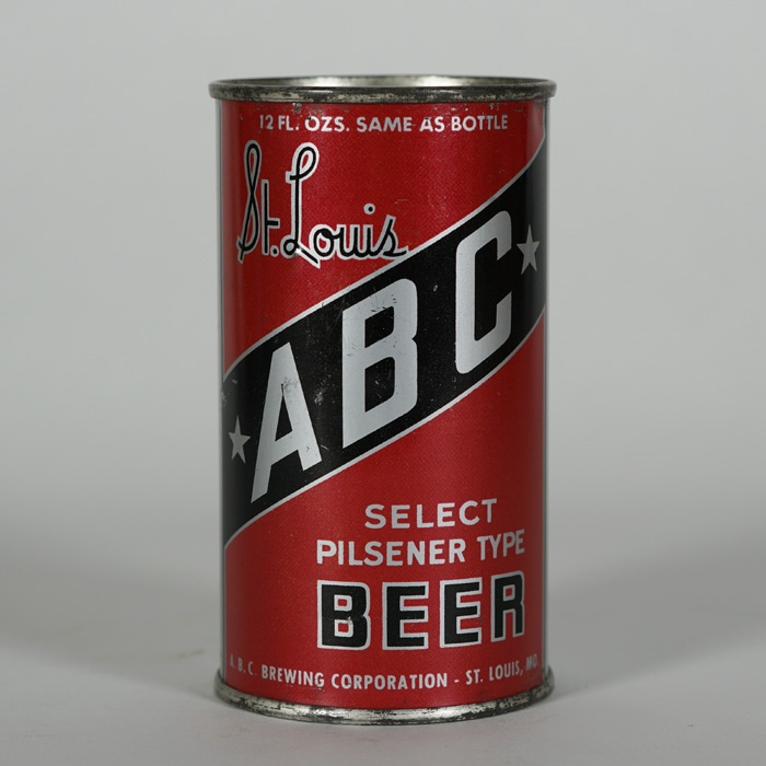 St. Louis ABC Beer Can 4 Beer