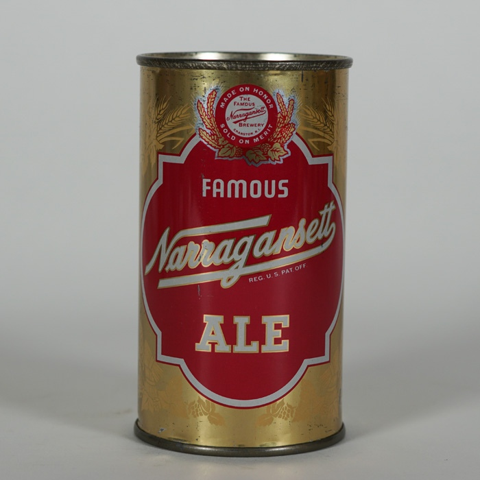 Narragansett Famous Ale Flat Top Beer