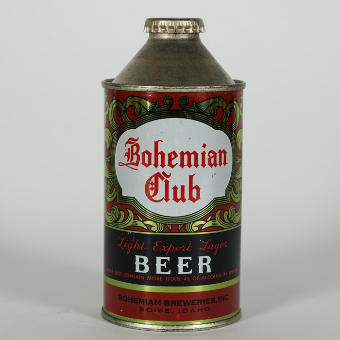 Bohemian Club Cone Top Beer Can 154-02 Beer