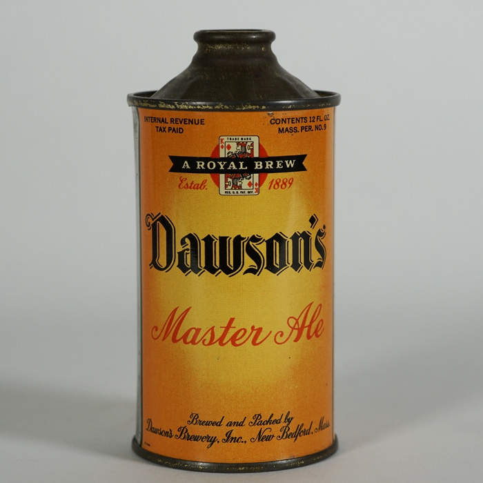 Dawsons Master Ale Low Profile Cone Top Beer
