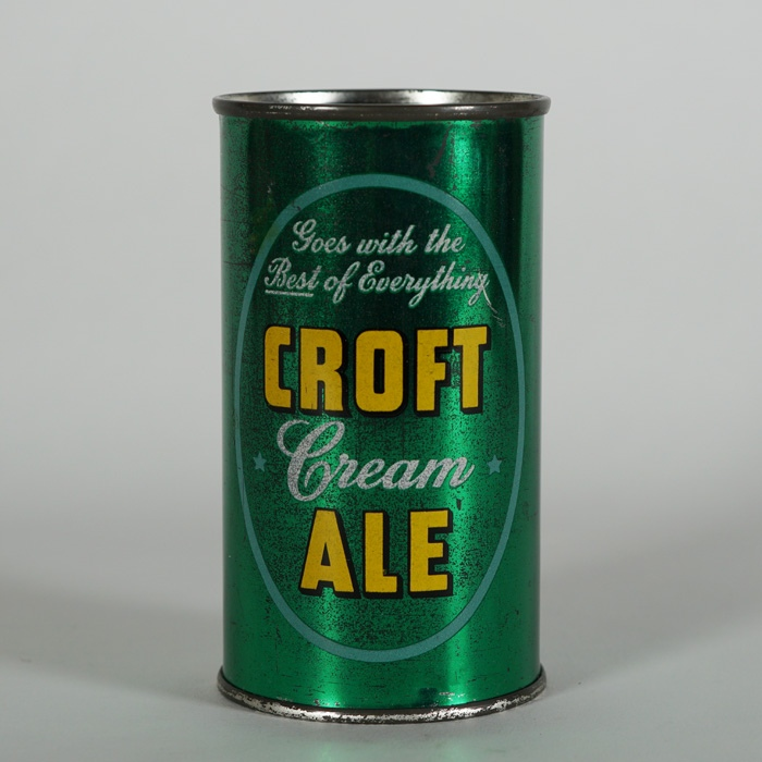 Croft Cream Ale Flat Top Beer Can Beer