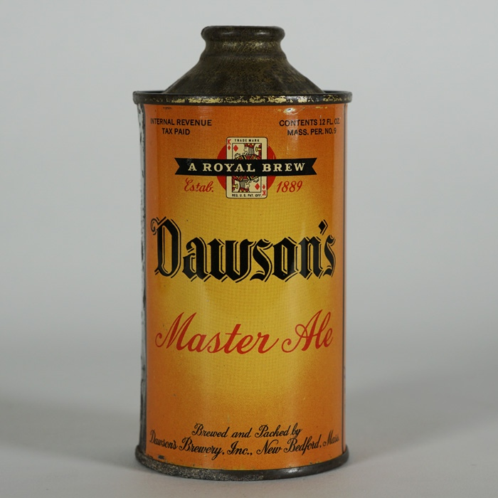 Dawson's Master Ale LP Cone Top Like 158-26 Beer