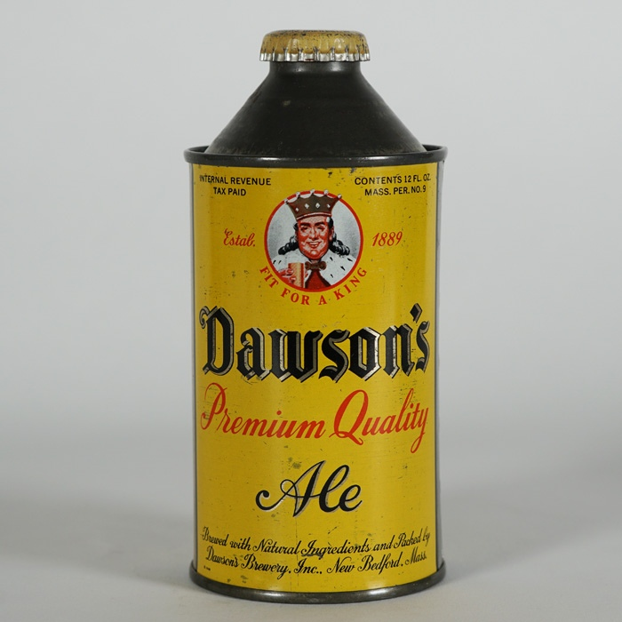 Dawson's Premium Quality Ale Cone Can 159-02 Beer