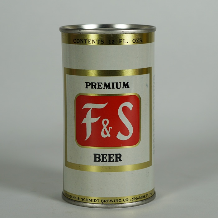 F and S Premium Beer Can 67-15 Beer