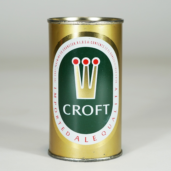 Croft Imported Ale Can 52-35 METALLIC Beer