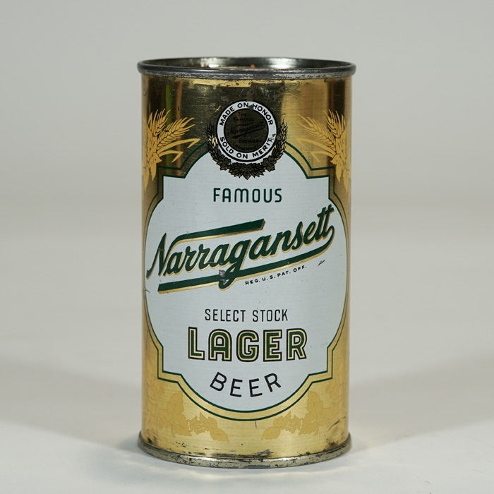 Narragansett Select Stock Lager WHEAT STALKS Beer