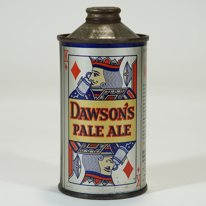 Dawson's Pale Ale Playing Card Cone U-PERMIT Beer