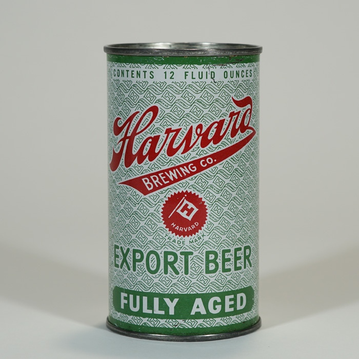 Harvard Export Green Label Beer Can IRTP 80-34 Beer
