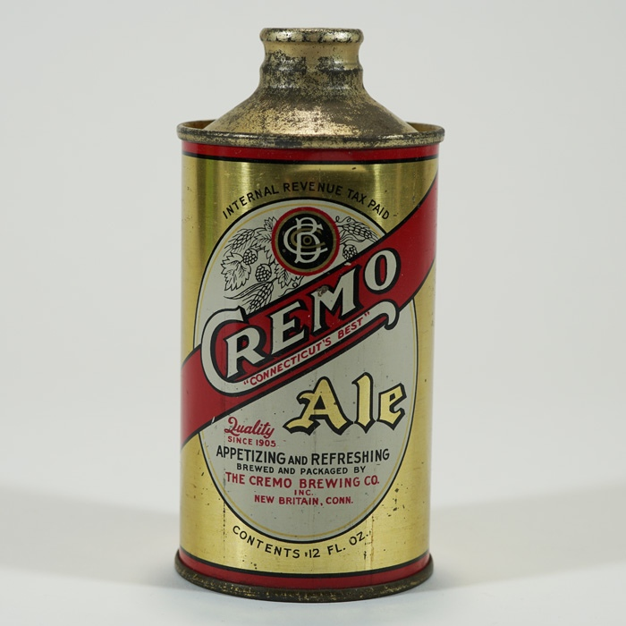 Cremo Ale APPETIZING Cone Can 158-16 Beer