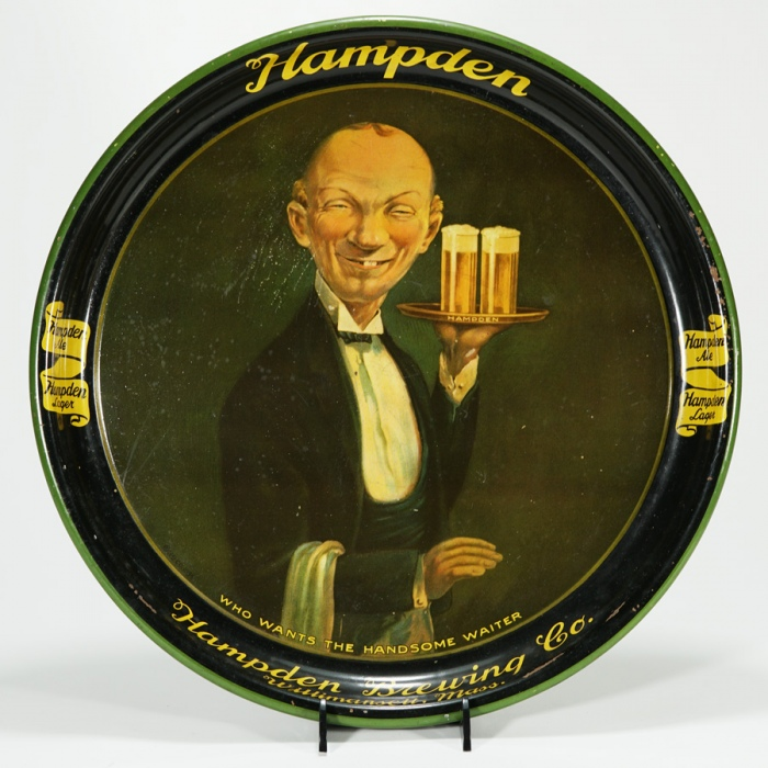 Hampden Brewing Handsome Waiter Tray Beer