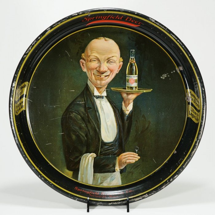 Springfield Breweries Handsome Waiter Tray Beer