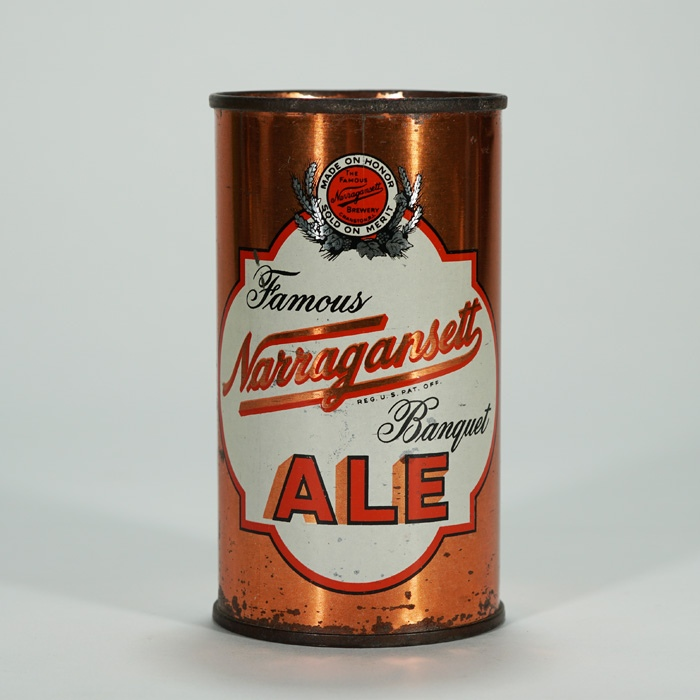 Narragansett Banquet Ale ORANGE IRTP 101-16 Beer