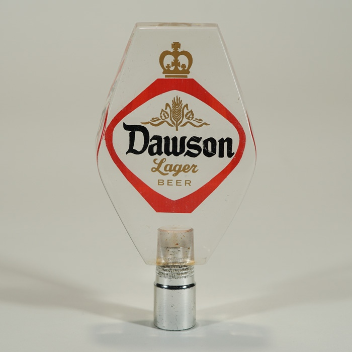 Dawson Lager Beer Lucite Tap Handle Beer