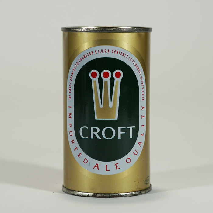 Croft Imported Ale Can 52-35 ENAMEL Beer