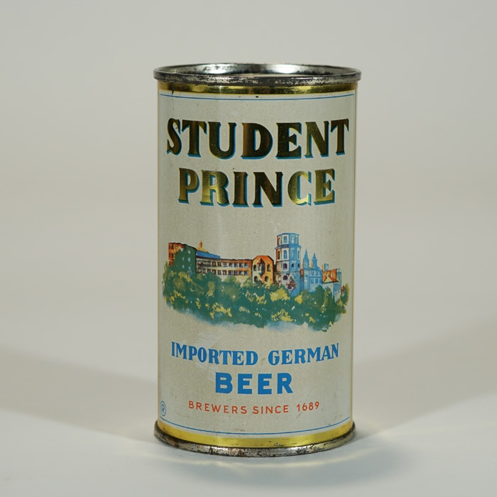 Student Prince Imported German Beer Can Beer