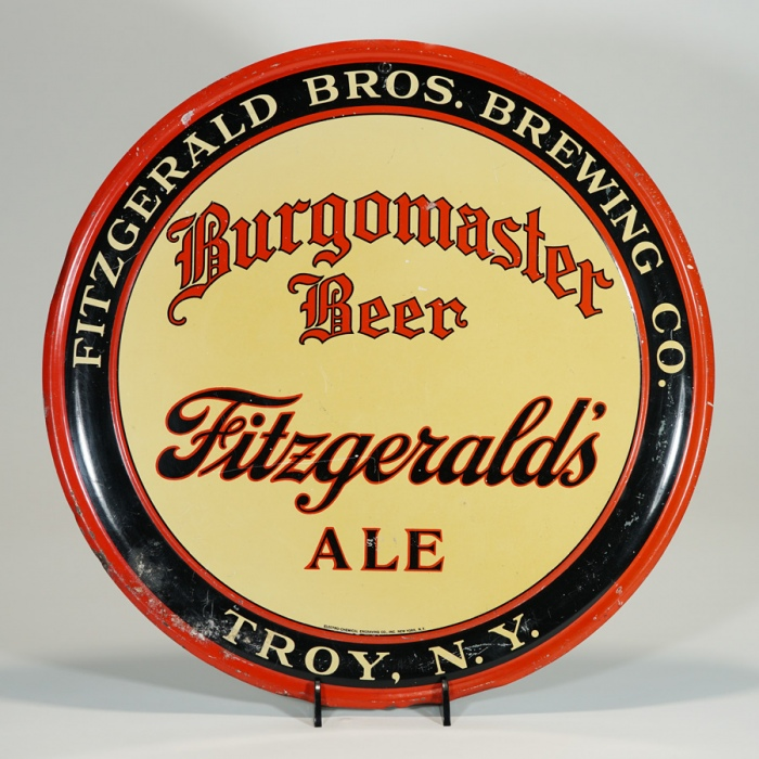 Fitzgerald Burgomaster Beer Charger Tin Sign Beer