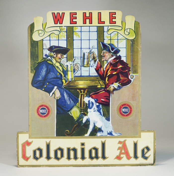 Wehle Colonial Ale Diecut Sign BLUE JACKET Beer