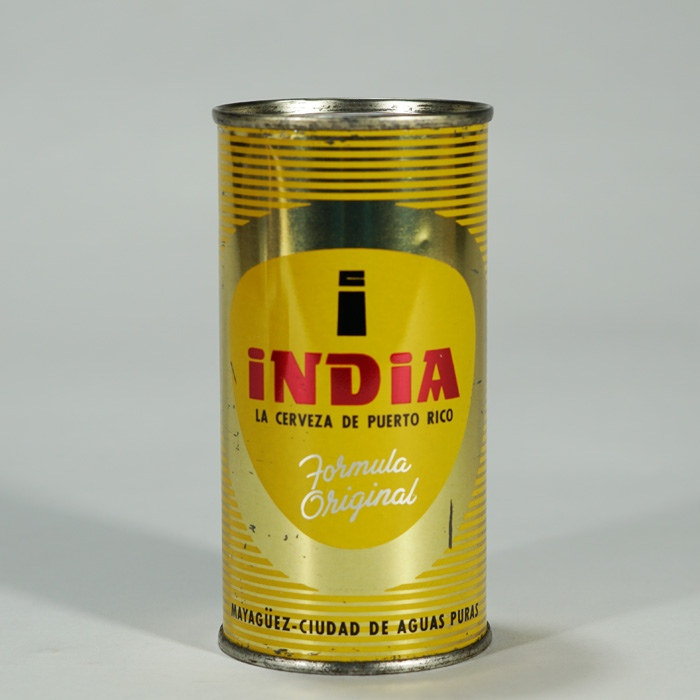 India Puerto Rico Flat Top Beer Can Beer