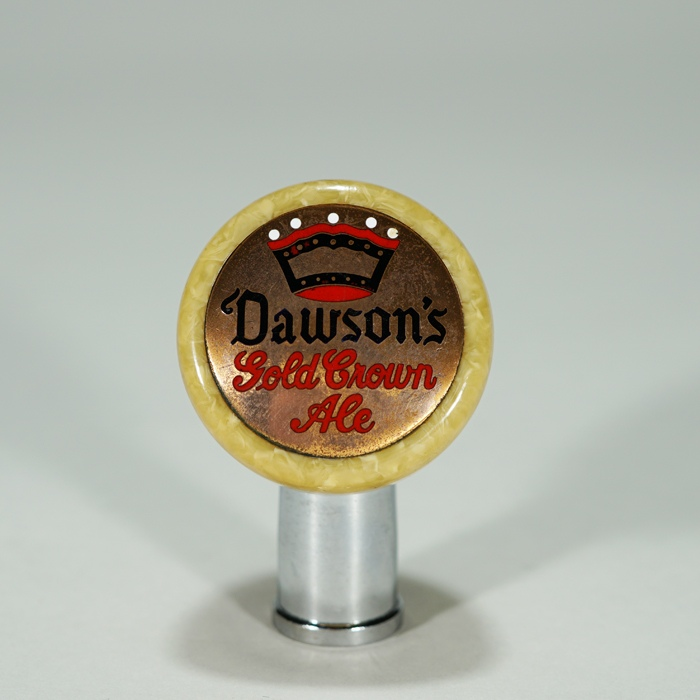 Dawson's Gold Crown Ale Torpedo Ball Knob Beer
