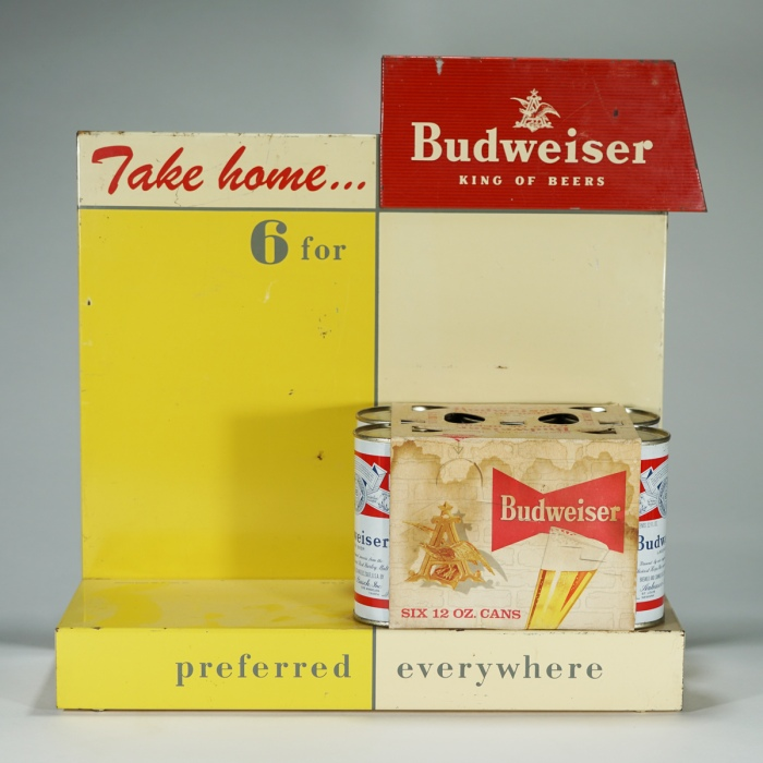 Budweiser Six Pack POP Display Beer