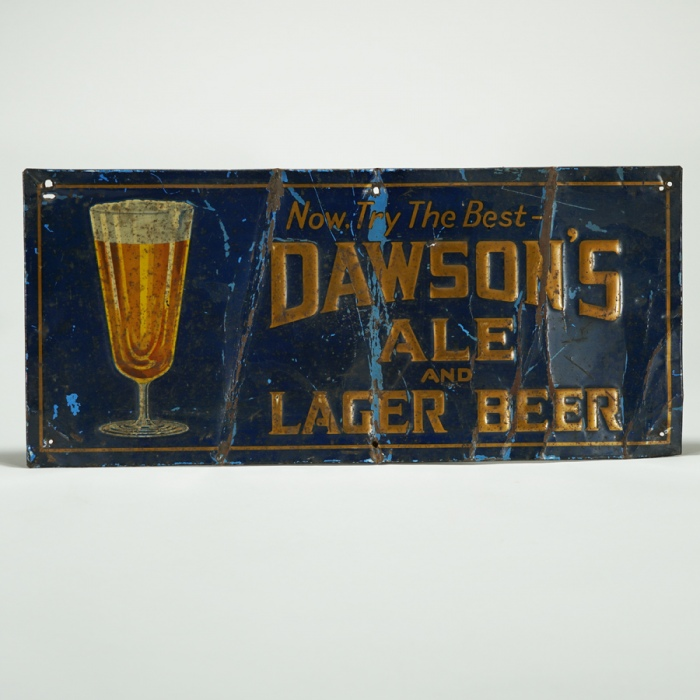 Dawson's Ale Lager Beer Tin Sign Beer