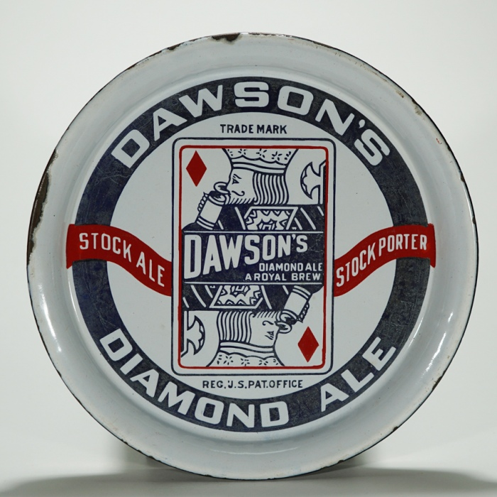 Dawsons Diamond Ale Playing Card Tray Beer