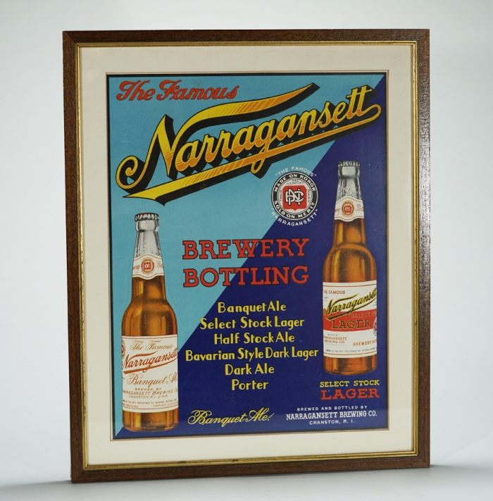 Narragansett Brewery Bottling Sign Beer