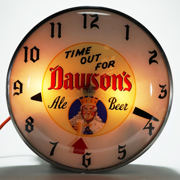 Dawsons Time Out For Ale & Beer Clock Beer