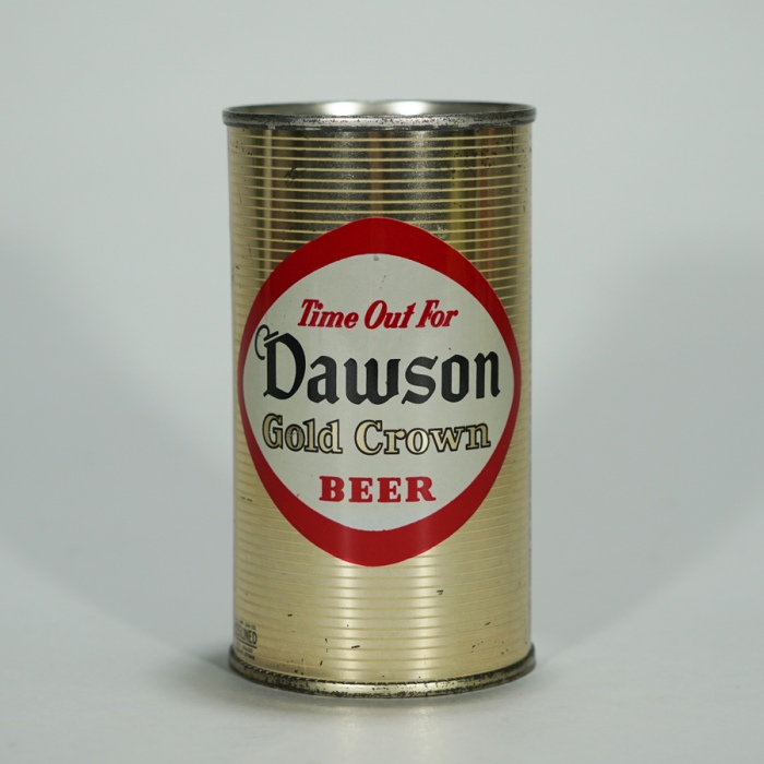 Dawson Gold Crown Beer BANK Top 53-22 Beer