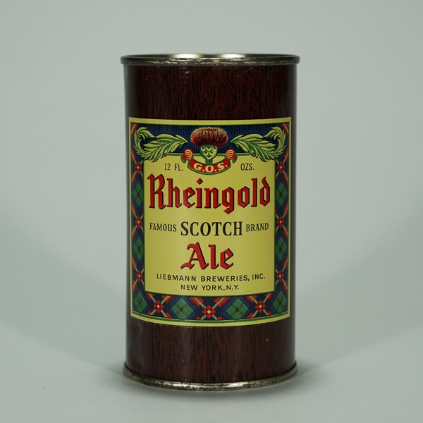 Rheingold Scotch Ale Can 123-26 Beer