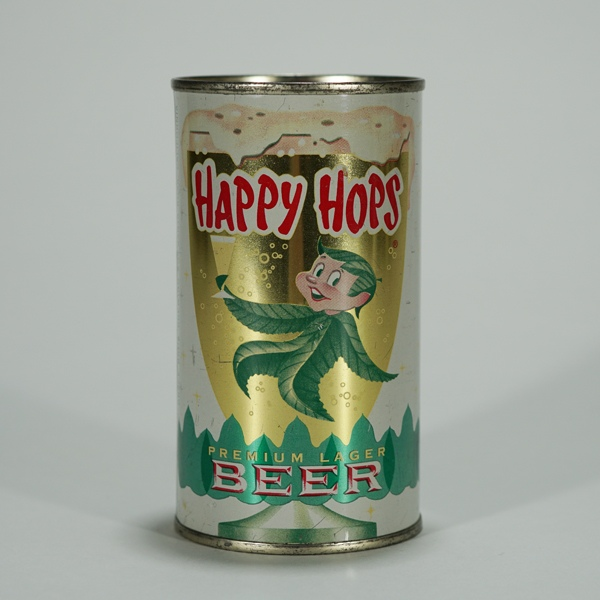 Happy Hops Lager Beer Can 80-15 Beer