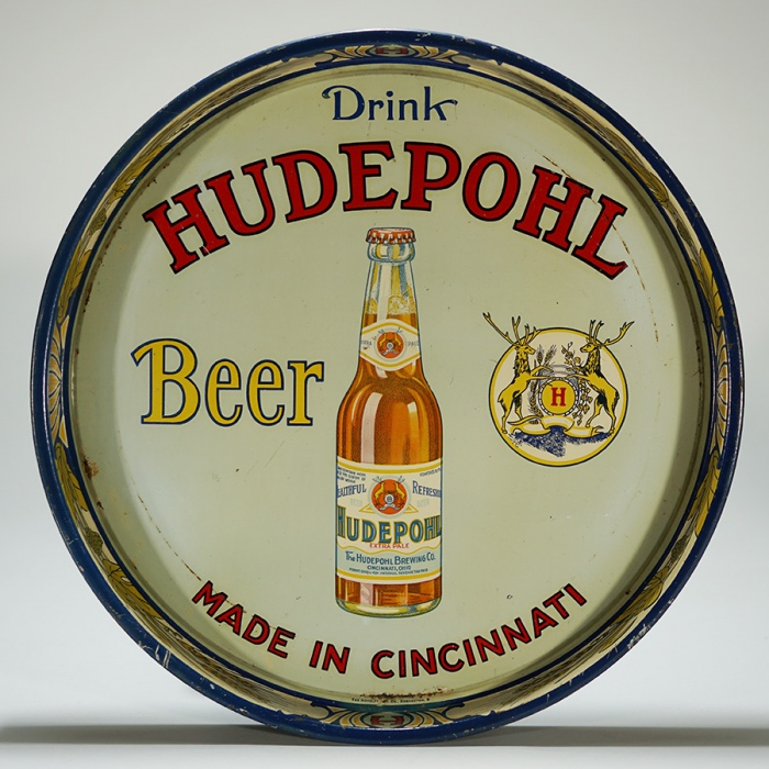 Hudepohl Beer Tray Beer