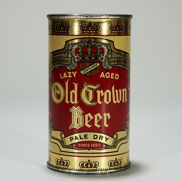 Old Crown Lazy Aged Beer Can OI 590 Beer